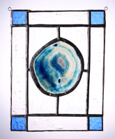 large agate panel blue