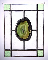 large agate panel green