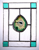 large agate panel teal