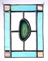 small agate panel teal