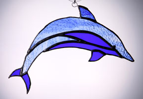 dolphin in blue