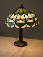 green acorns lamp