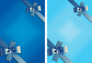 gift ribbon in blues