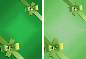 gift ribbon in greens