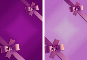 gift ribbon in purple & lilac