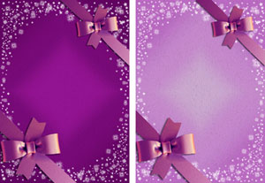 christmas gift ribbon in purple & lilac