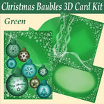 green baubles 3d card kit