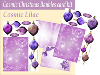 cosmic baubles 3d card kit lilac