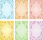 scroll borders pastel colours