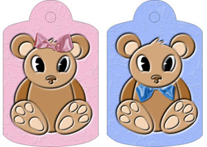 Beatrice & Bernard Bears Gift Tags, from Candice's Critters