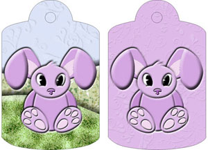 Belle Bunny Gift Tags, from Candice's Critters