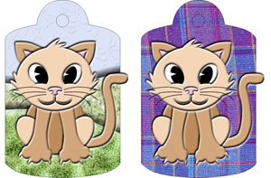 Camille Cat Gift Tags, from Candice's Critters