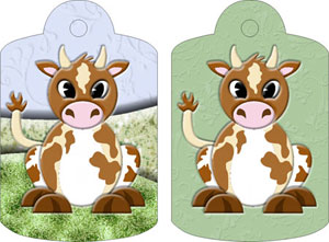 Clara Cow Gift Tags, from Candice's Critters