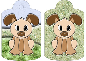 Dexter Dog Gift Tags, from Candice's Critters