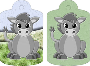 Dolores Donky Gift Tags, from Candice's Critters