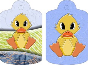 Dulcie Duck Gift Tags, from Candice's Critters