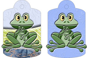 Freda Frog Gift Tags, from Candice's Critters