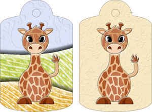 Gerry Giraffe Gift Tags, from Candice's Critters