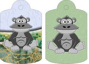 Gordon Gorilla Gift Tags, from Candice's Critters