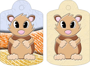 Harry Hamster Gift Tags, from Candice's Critters