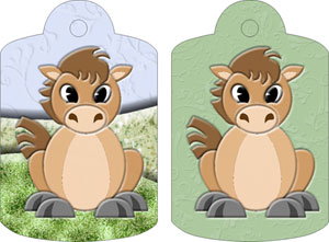 Henry Horse Gift Tags, from Candice's Critters
