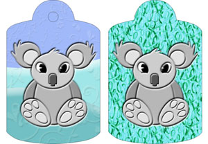 Kylie Koala Gift Tags, from Candice's Critters