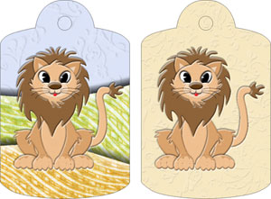 Lenny Lion Gift Tags, from Candice's Critters
