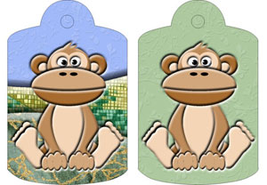 Mungo Monkey Gift Tags, from Candice's Critters