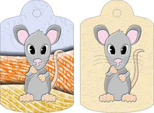 Molly Mouse Gift Tags, from Candice's Critters