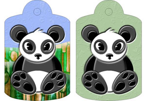 Ping Panda Gift Tags, from Candice's Critters