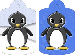Pelham Penguin Gift Tags, from Candice's Critters
