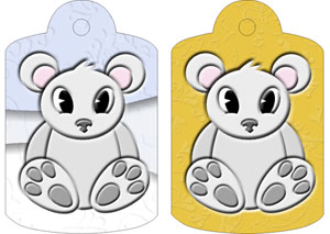 Preston Polar Bear Gift Tags, from Candice's Critters