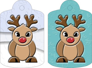 Ruby Reindeer Gift Tags, from Candice's Critters