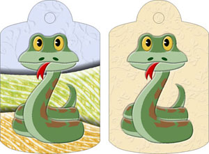 Suzie Snake Gift Tags, from Candice's Critters