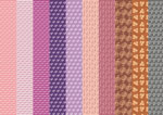 purple patterned paper set