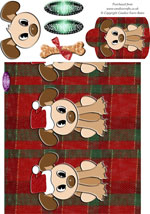 dexter christmas dog money wallet, one of Candice's Critters