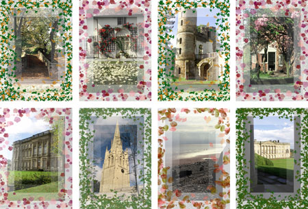yorkshire scenes notelets with patterned border