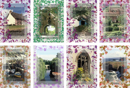 uk scenes notelets with patterned border