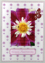 example card flowers set 1