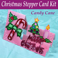 candy cane christmas stepper card kit