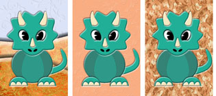 Tricia Triceratops Topper Set
