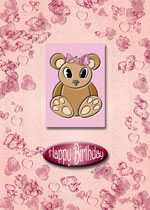 card example with bear topper