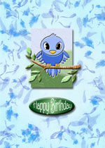 card example with bird topper