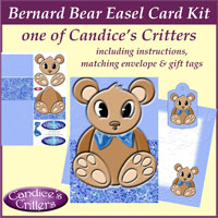 bernard bear easel card kit, one of Candice's Critters