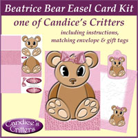 beatrice bear easel card kit, one of Candice's Critters
