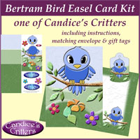 bertram bird easel card kit, one of Candice's Critters