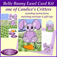 belle bunny easel card kit, one of Candice's Critters