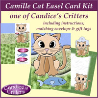 camille cat easel card kit, one of Candice's Critters
