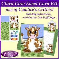clara cow easel card kit, one of Candice's Critters