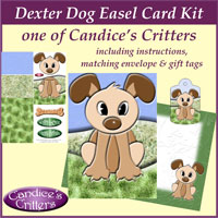 dexter dog easel card kit, one of Candice's Critters